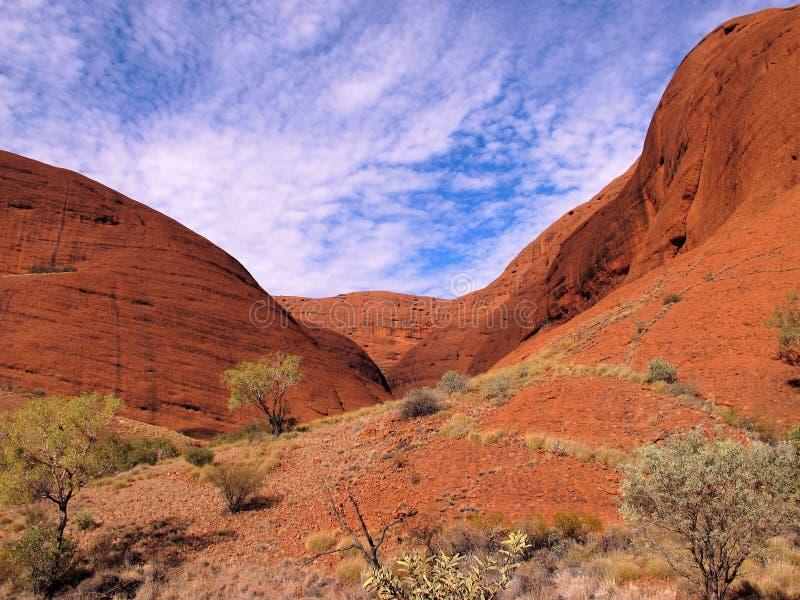 Kata Tjuta (l'Olgas) en parc national d'Uluru image stock