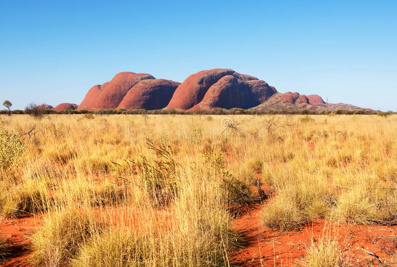 Kata Tjuta o Olgas, Território do Norte, Austrália fotos de stock royalty free