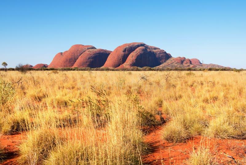 Kata Tjuta Olgasen, nordligt territorium, Australien royaltyfria foton