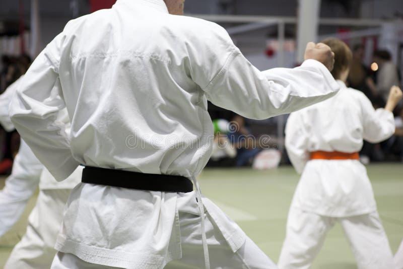 Kata van de karate stock foto's