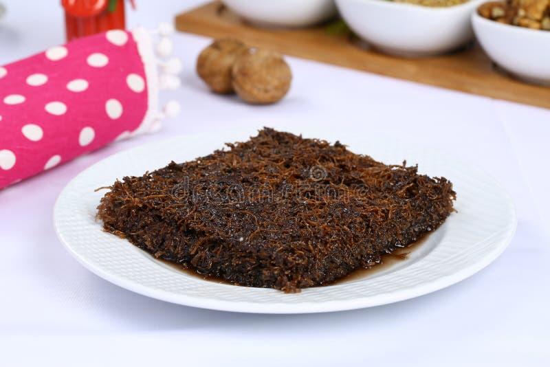 Kataifi with chocolate royalty free stock image