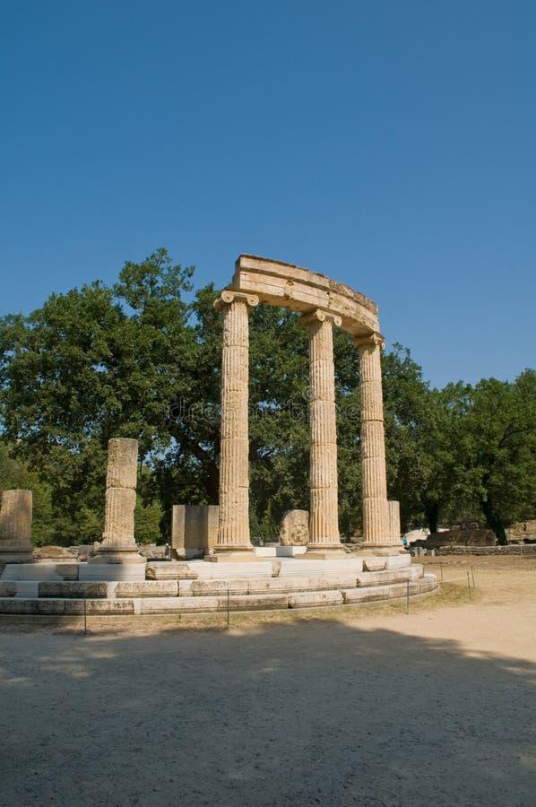 Katakalon Tempel Olympia stockfotos