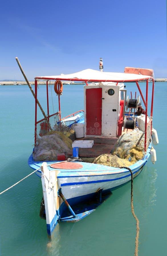 katakolon грека Греции рыболовства шлюпки стоковое фото rf
