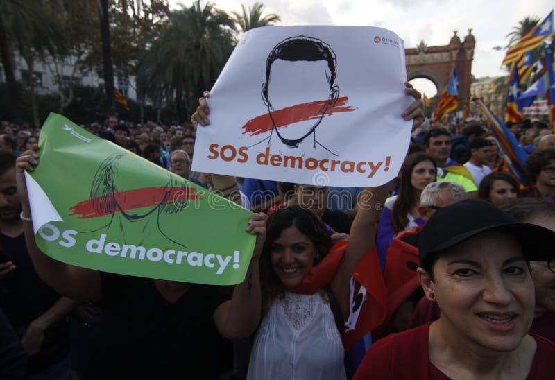Katalońska niezależności deklaracja obrazy stock