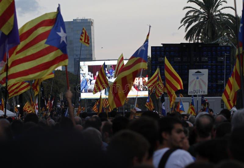 Katalońska niezależności deklaracja obraz stock