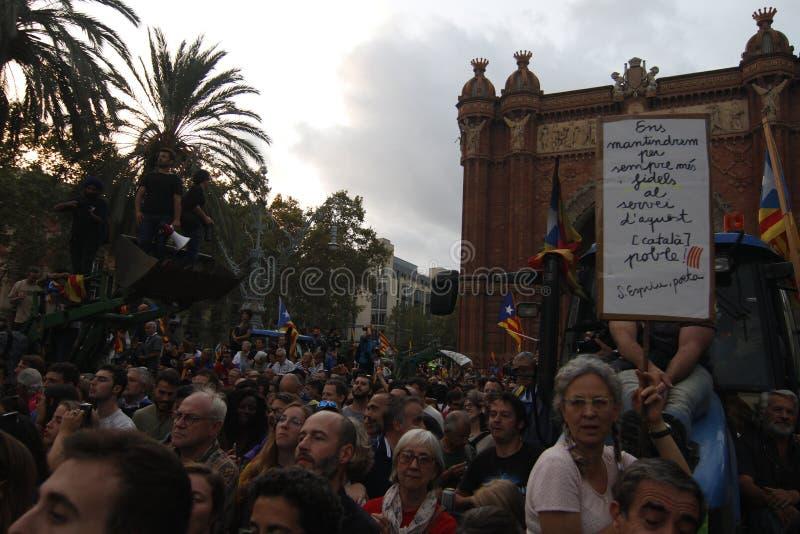Katalońska niezależności deklaracja fotografia stock