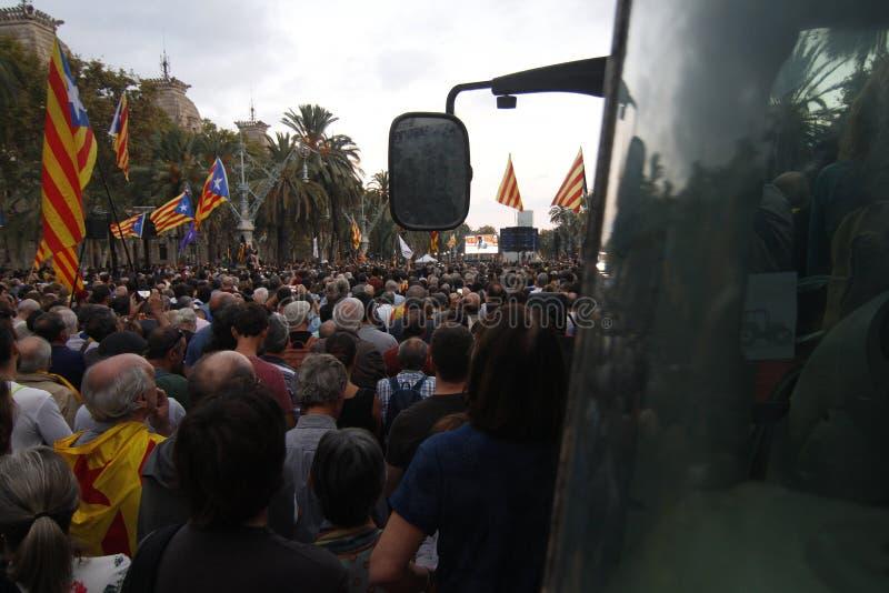 Katalońska niezależności deklaracja zdjęcie royalty free