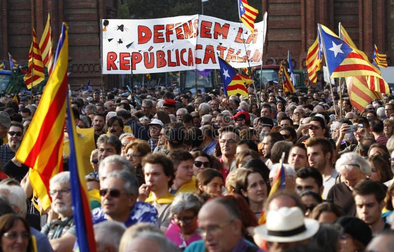 Katalońska niezależności deklaracja zdjęcia royalty free