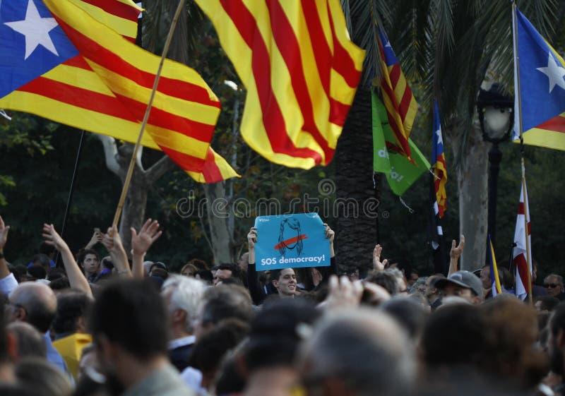 Katalońska niezależności deklaracja obraz royalty free