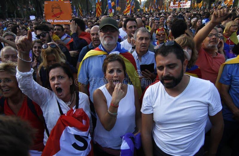 Katalońska niezależności deklaracja fotografia royalty free