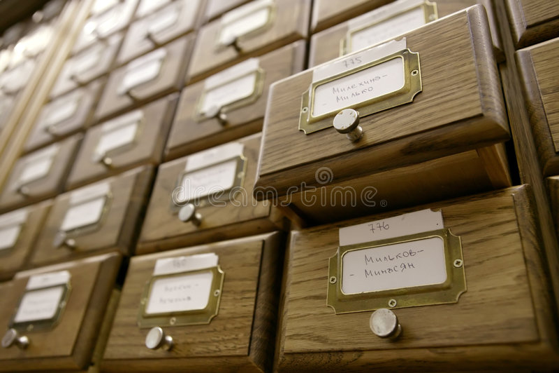 katalog biblioteki fotografia stock