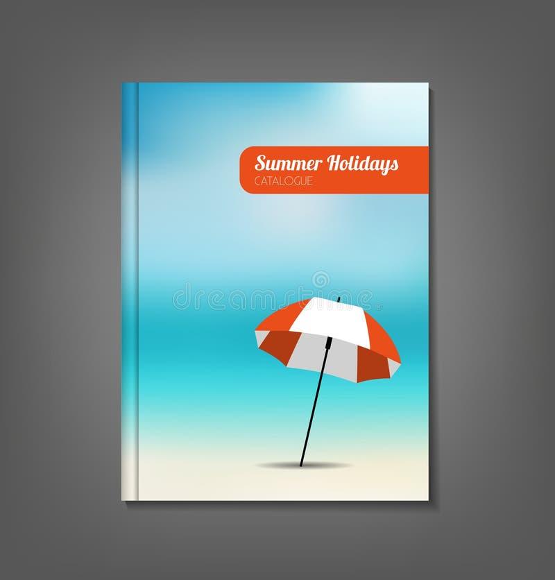 Katalog för sommarferier royaltyfri illustrationer
