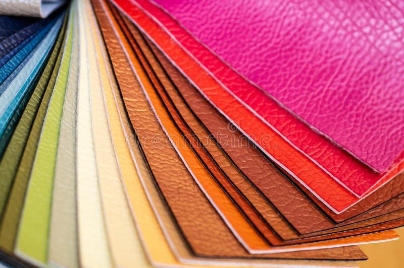 Katalog stubarwna imitacji sk?ra od matowa? tkaniny tekstury t?o, leatherette tkaniny tekstura fotografia stock