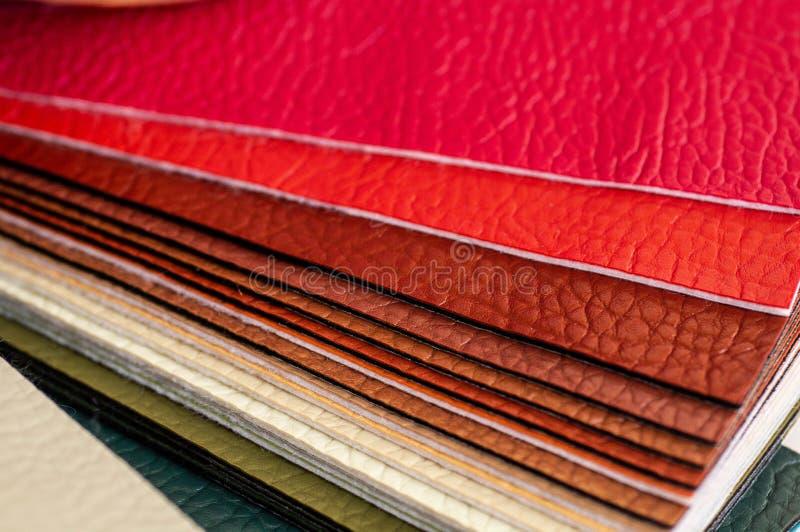 Katalog stubarwna imitacji sk?ra od matowa? tkaniny tekstury t?o, leatherette tkaniny tekstura zdjęcie royalty free