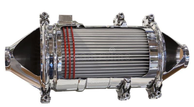 Katalysator en deeltjesfilter stock foto