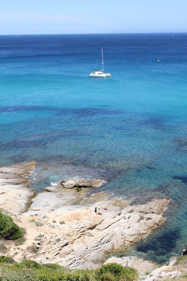 Katamaran in Tasmanien lizenzfreie stockfotos