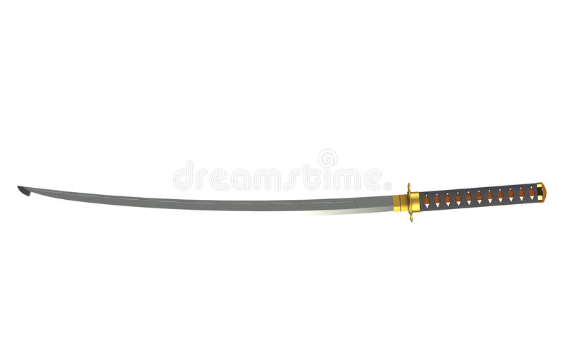 Download Katana stock illustration. Image of antique, steel, strength - 26612095