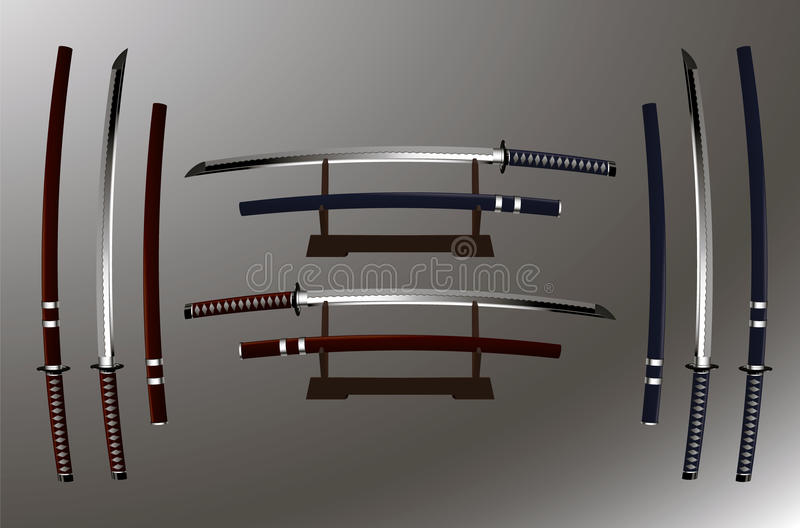 Katana (japanese sword) royalty free stock image