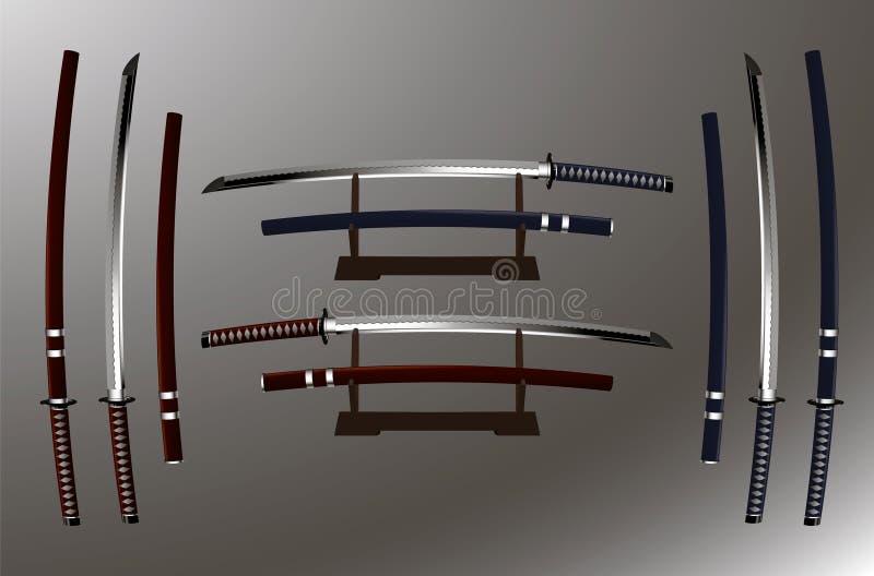 Katana (japanskt svärd) royaltyfri bild