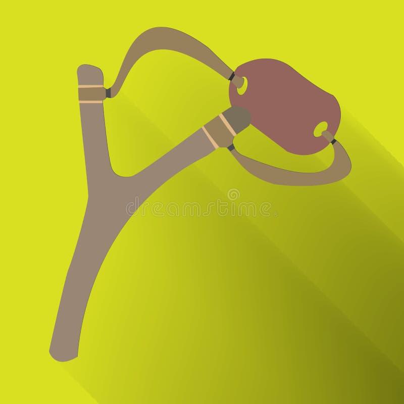 Katapulten armborst, katapulten är en kasta apparat för att spela, royaltyfri illustrationer