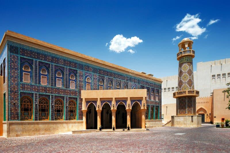 Katara är en kulturell by i Doha, Qatar arkivbilder