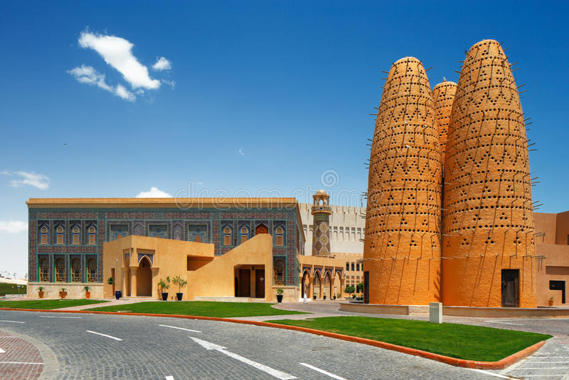 Katara jest kulturalnym wioską w Doha, Katar obraz stock