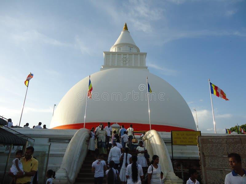 Kataragama kiriwehera. This is kataragama kiriwehera on day at sri lanaka , also this is most popular religions place stock images