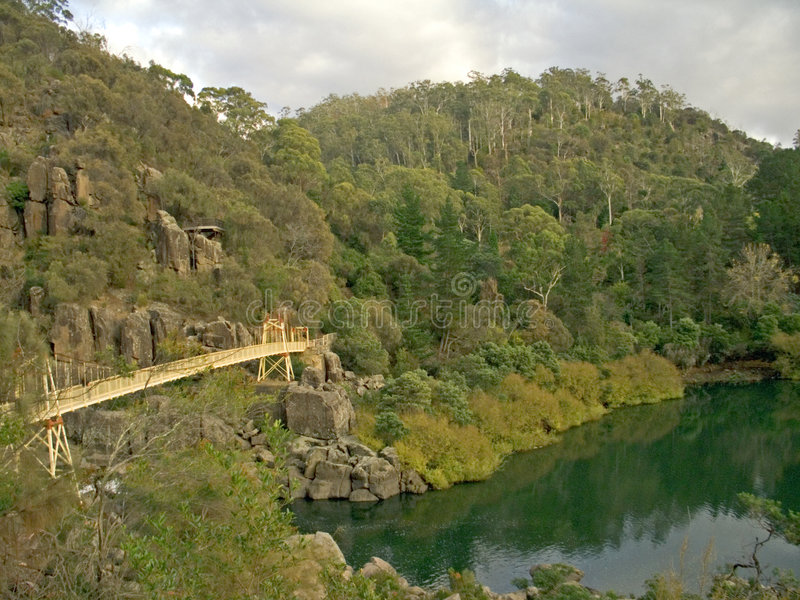 Katarakt-Schlucht, Launceston, Tasmanien lizenzfreies stockbild