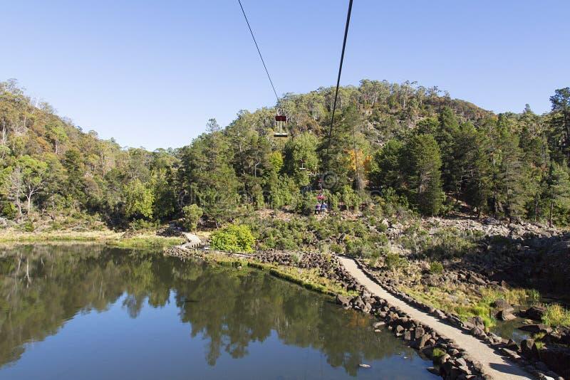 Katarakt-Schlucht in Tasmanien stockbilder