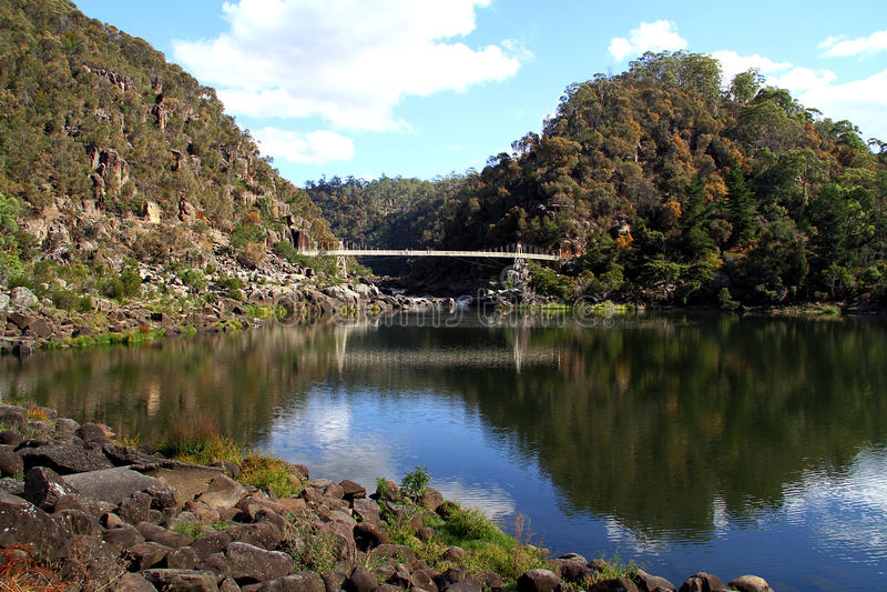 Katarakt-Schlucht in Tasmanien. stockbilder
