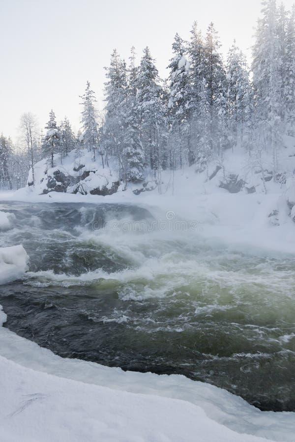 katarakty śnieżny krajobrazowy zdjęcie stock