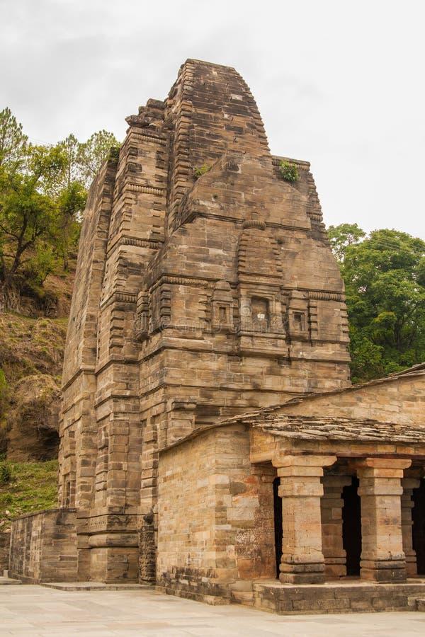 Katarmal太阳寺庙,在阿尔莫拉附近 免版税库存照片