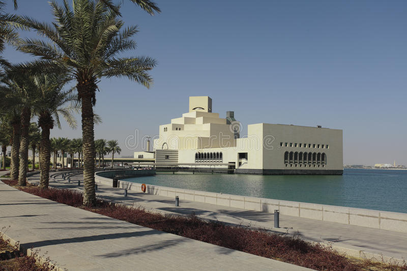 Katarski muzeum Islamska sztuka fotografia royalty free