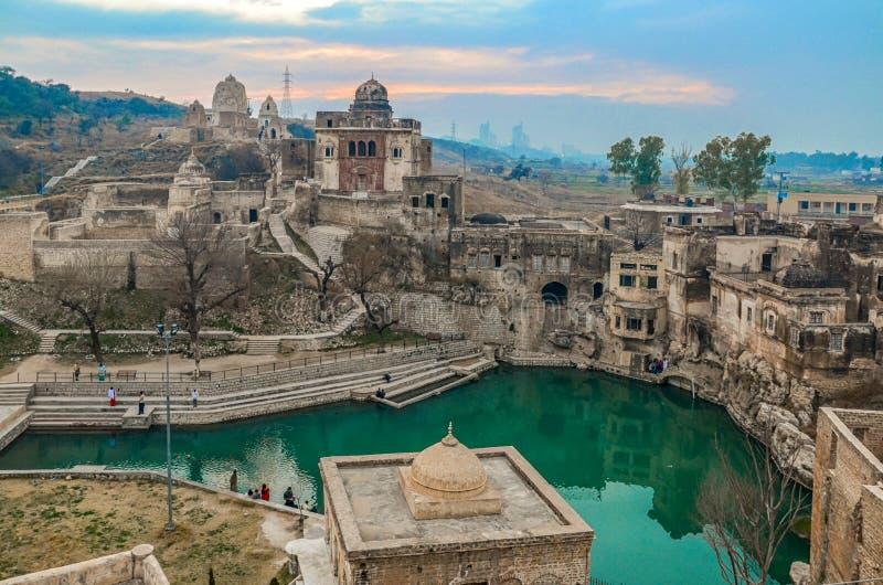 Katas Raj Temples Pakistan immagini stock libere da diritti
