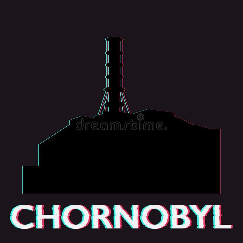 Katastrof för Chornobyl kärnkraftverkekologi stock illustrationer