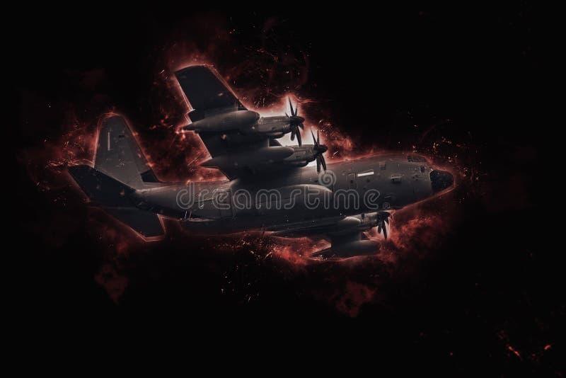 Katastrof med fraktflygplan arkivbilder