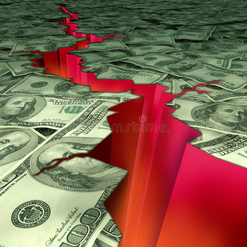 katastrofa pieniężna ilustracji