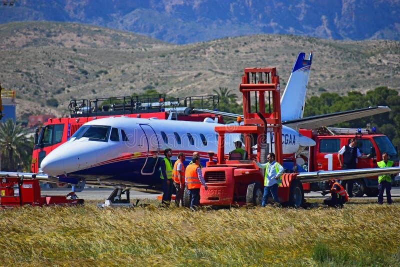 Katastrofa Samolotu Przy Alicante lotniskiem obrazy stock