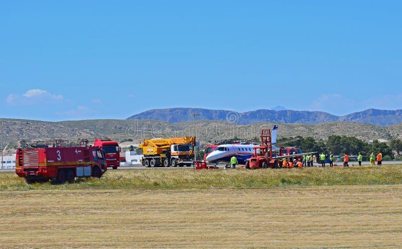 Katastrofa Samolotu Przy Alicante lotniskiem fotografia stock