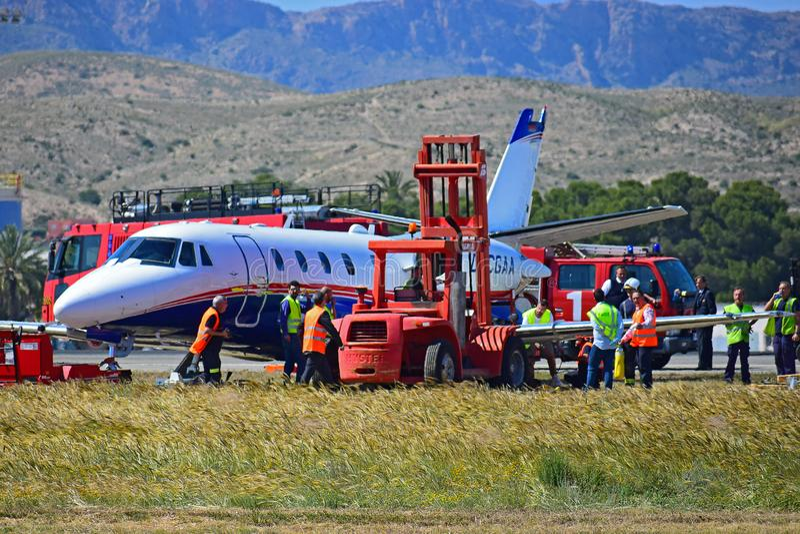 Katastrofa samolotu obrazy stock
