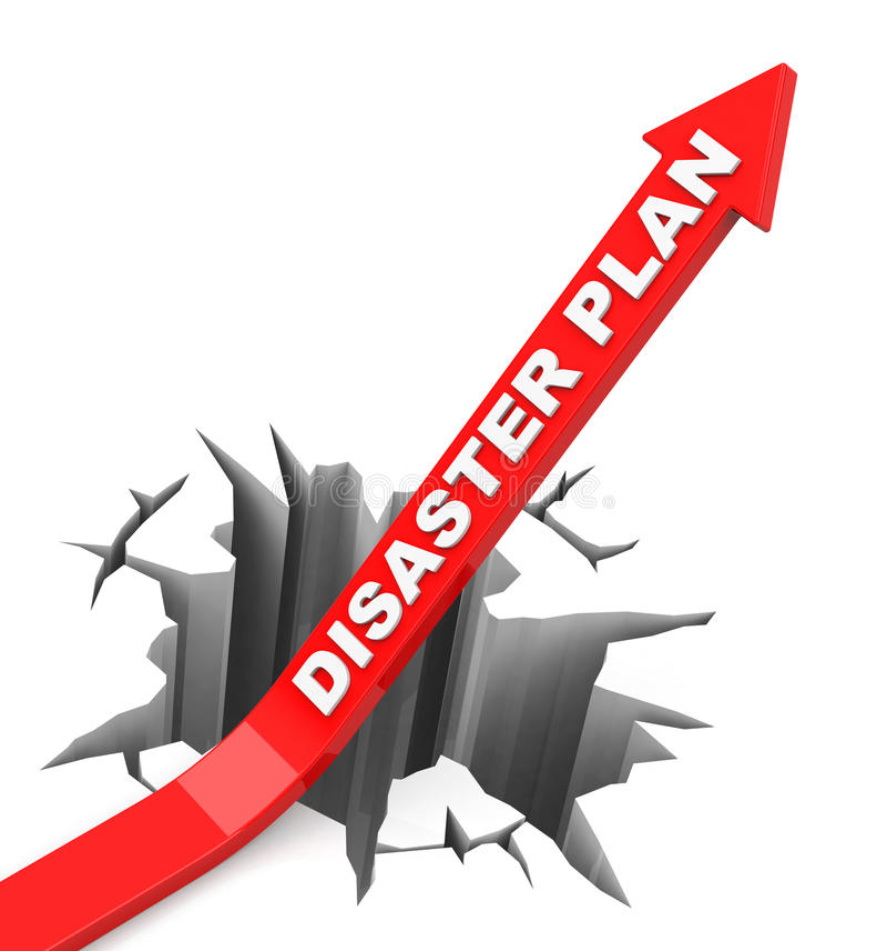 Katastrofplanet stock illustrationer