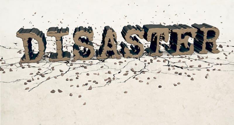 katastroftecken stock illustrationer