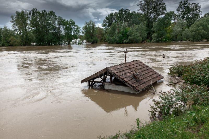 katastrofy naturalnej pojęcie powodzie obrazy stock