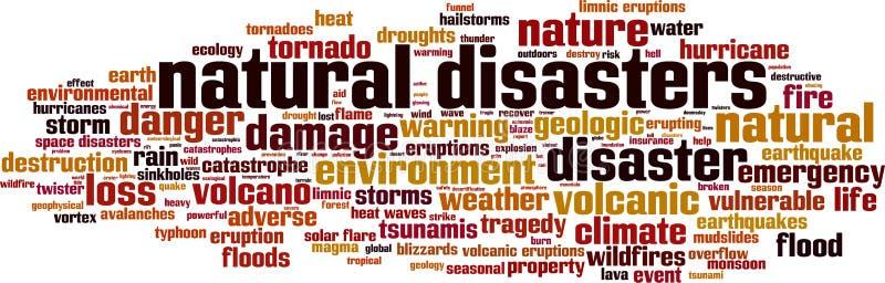 Katastrofy naturalnej s?owa chmura ilustracja wektor