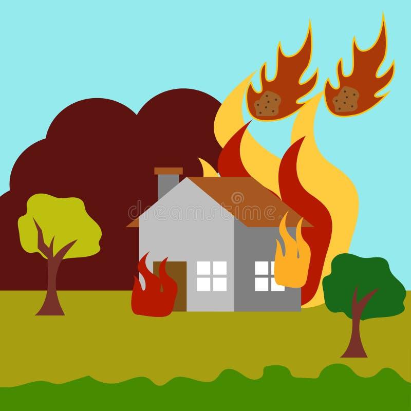 Katastrofy Naturalnej sztuki loga Ilustracyjny Wektorowy szablon ilustracja wektor
