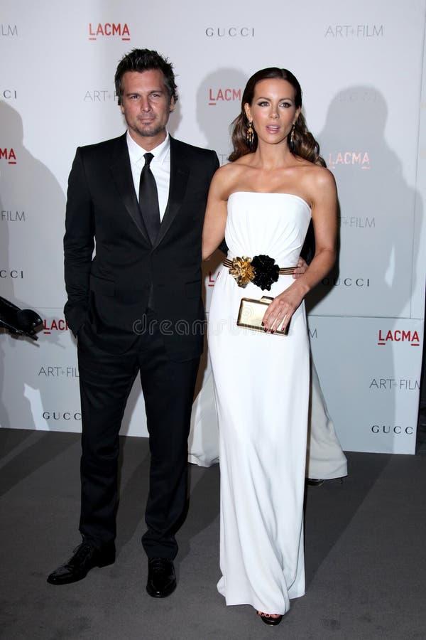 Kate Beckinsale, Len Wiseman royalty-vrije stock foto