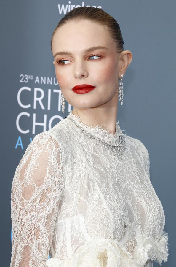 Kate Bosworth. At the 23rd Annual Critics` Choice Awards held at the Barker Hangar in Santa Monica, USA on January 11, 2018.nn stock photo