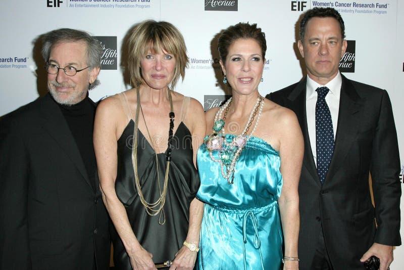 Kate Capshaw, Rita Wilson, Steven Spielberg, Tom Hanks Editorial Photography