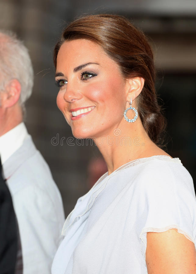Kate Middleton. Catherine, Duchess of Cambridge (aka Kate Middleton) at the The UK's Creative Industries Reception supported by the Foundation Forum at the Royal stock photos