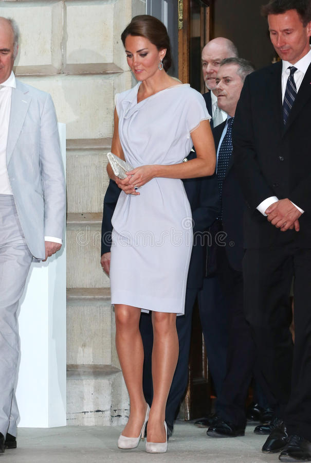 Kate Middleton. Catherine, Duchess of Cambridge (aka Kate Middleton) at the The UK's Creative Industries Reception supported by the Foundation Forum at the Royal royalty free stock photo